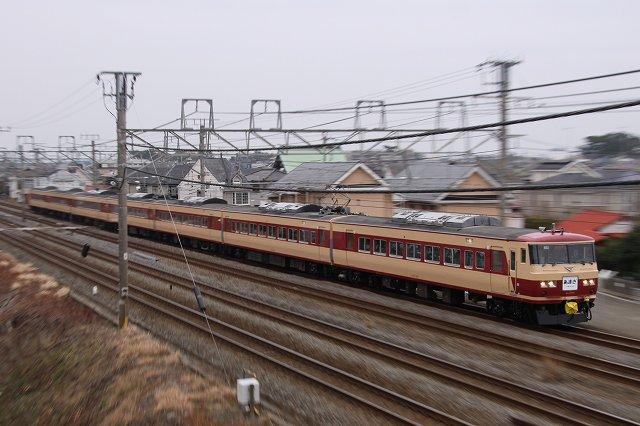 185系臨時特急『あまぎ号』を東海道本線で撮影♪ ('12.3.4)